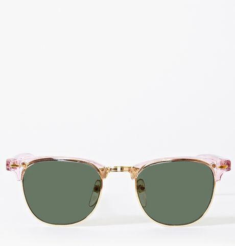 Nasty Gal Soho Shades in Green (pink) - Lyst