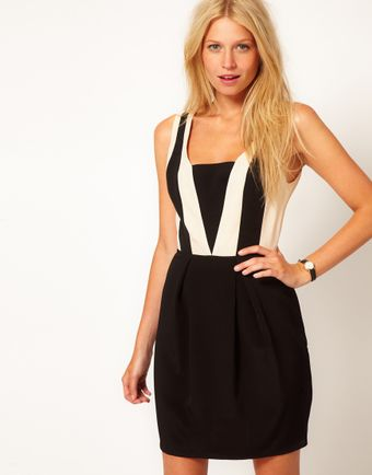 Oasis Colour Block Dress - Lyst