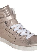 Pierre Hardy Metallic High Top Sneaker