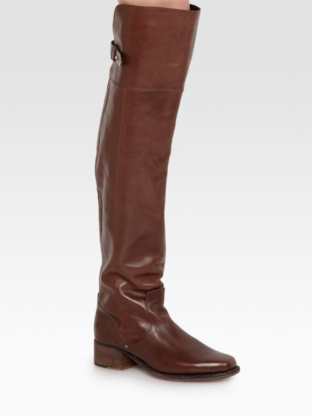 Rag & Bone Pearce Leather Overtheknee Boots in Brown