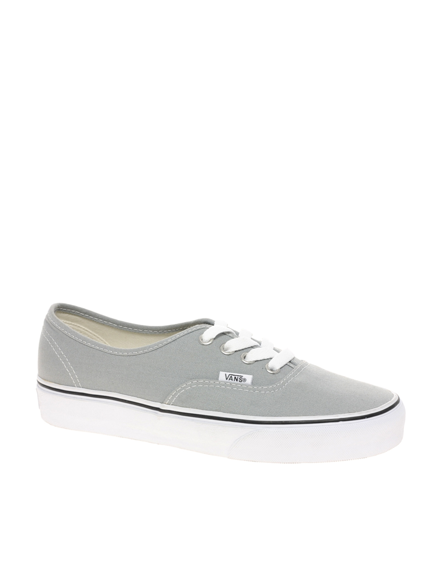 8cdafb9c46 Lyst - Vans Authentic Classic Grey White Lace Up Trainers in Gray