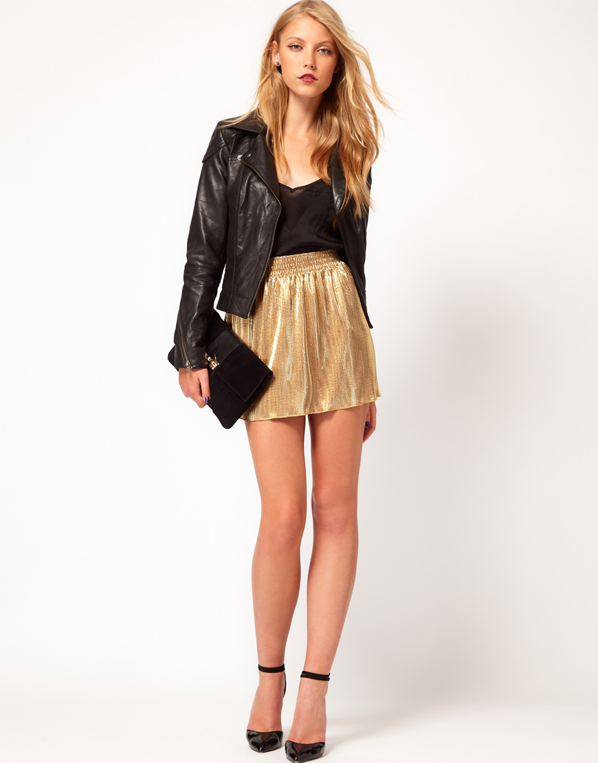 Amazing Gorgeous New Look Double Seam Leather Look Mini Skirt - ColorBlack Women New Look Skirts Brand ...