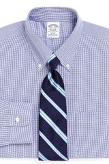 Brooks Brothers Supima Cotton Noniron Slim Fit Shadow Check Dress Shirt - Lyst