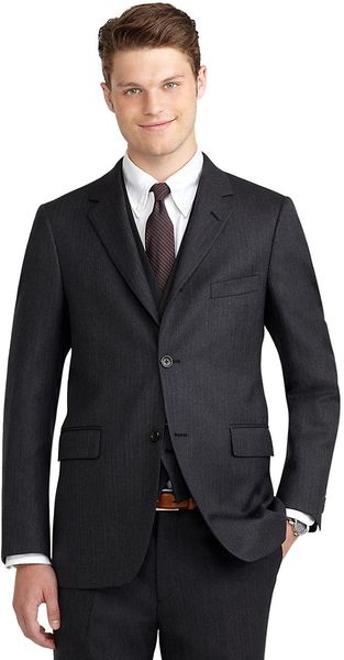 Brooks Brothers Cambridge Threepiece Suit - Lyst
