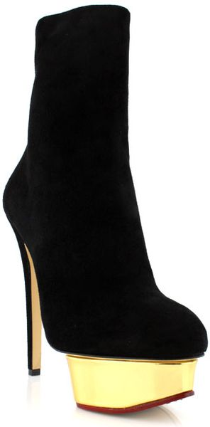 Charlotte Olympia Black Lucinda in Gold (black) - Lyst