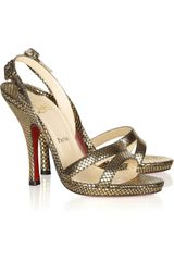 Christian Louboutin Fine Romance 120 Leather Slingback Sandals - Lyst