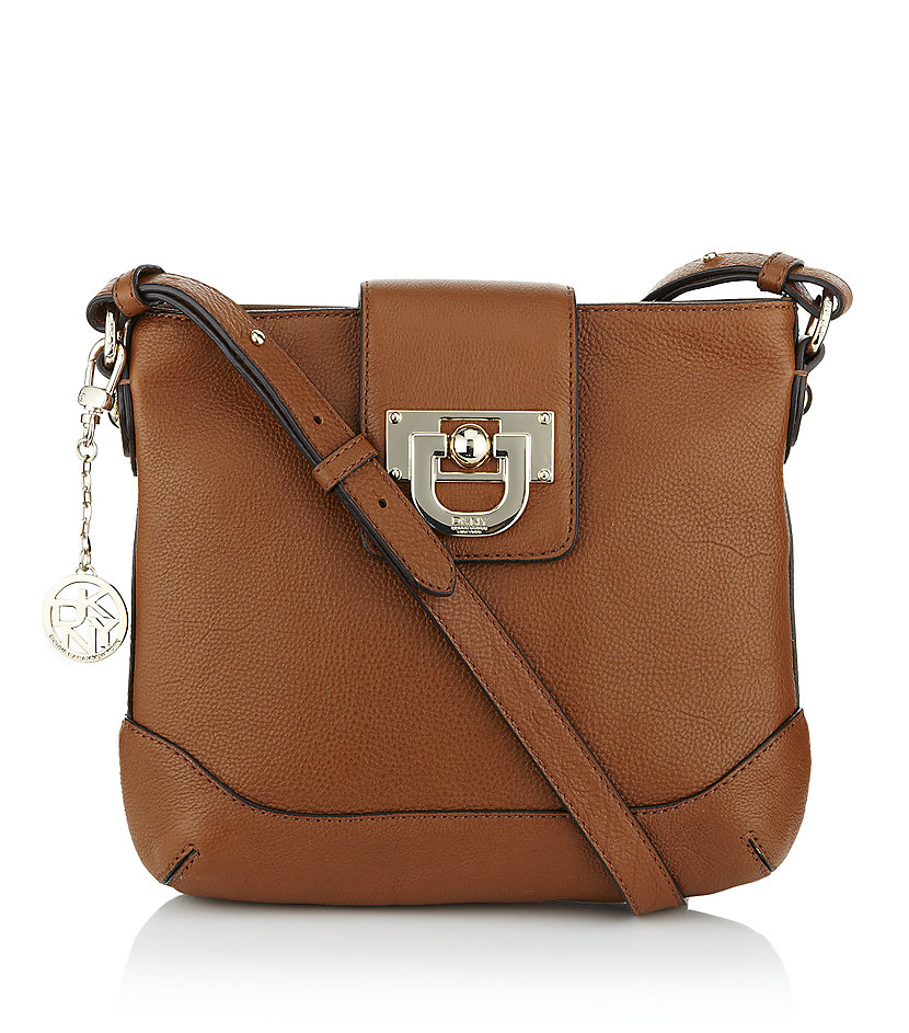 dkny vintage crossbody bag in brown lyst