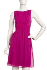 Donna Morgan Pleated Chiffon Dress - Lyst