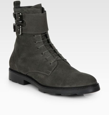 Fendi Suede Bootie in Black for Men (onyx) - Lyst