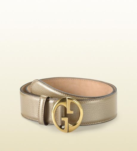 Gucci Belt with Double G Buckle in Beige (champagne) - Lyst