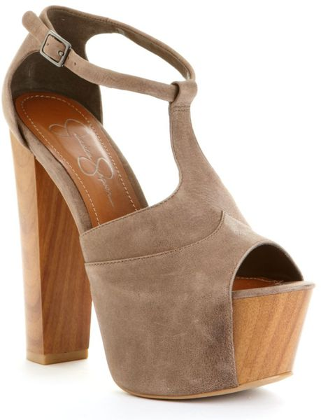 Jessica Simpson Dany Platform Sandals in Brown (coffee)