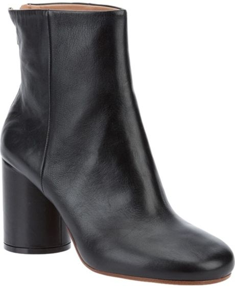 Maison Martin Margiela Leather Ankle Boots in Black - Lyst