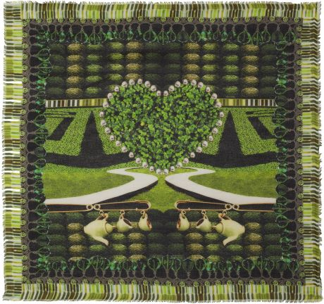 Mary Katrantzou Cartel Printed Modal and Cashmereblend Scarf in Green (multicolored) - Lyst