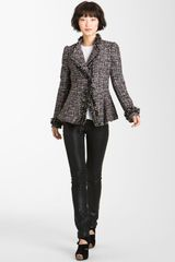 Mcginn Asymmetrical Metallic Tweed Jacket - Lyst