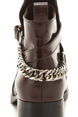 Mcq By Alexander Mcqueen Paddock Boots in Brown (oxblood) - Lyst