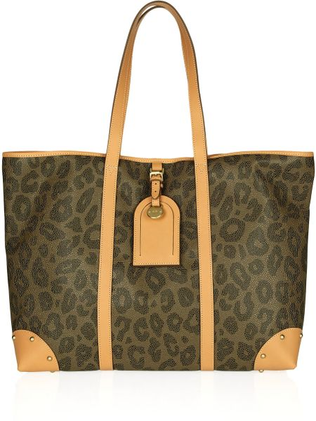 Mulberry Scotch Grain Leopard Print Leather Tote in Animal (black)