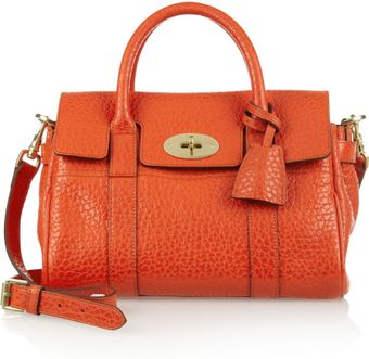 Mulberry Small Bayswater Textured Leather Bag - Lyst