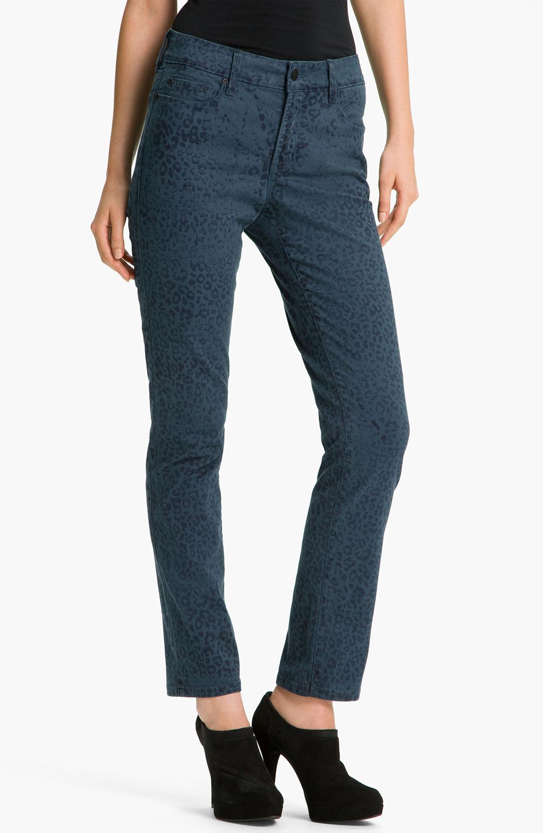 not your daughter 39 s jeans nydj sheri cheetah print skinny. Black Bedroom Furniture Sets. Home Design Ideas