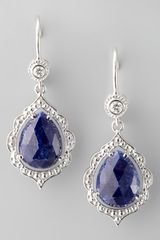 Penny Preville Scalloped Diamond Sapphire Earrings - Lyst