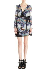 Proenza Schouler Japanese Print Wrap Dress - Lyst