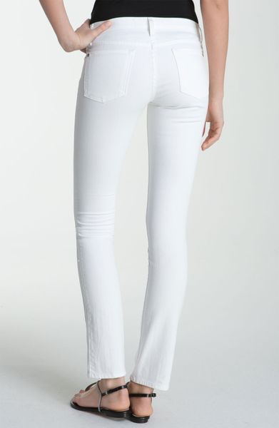 vince slim straight leg stretch jeans in white lyst. Black Bedroom Furniture Sets. Home Design Ideas