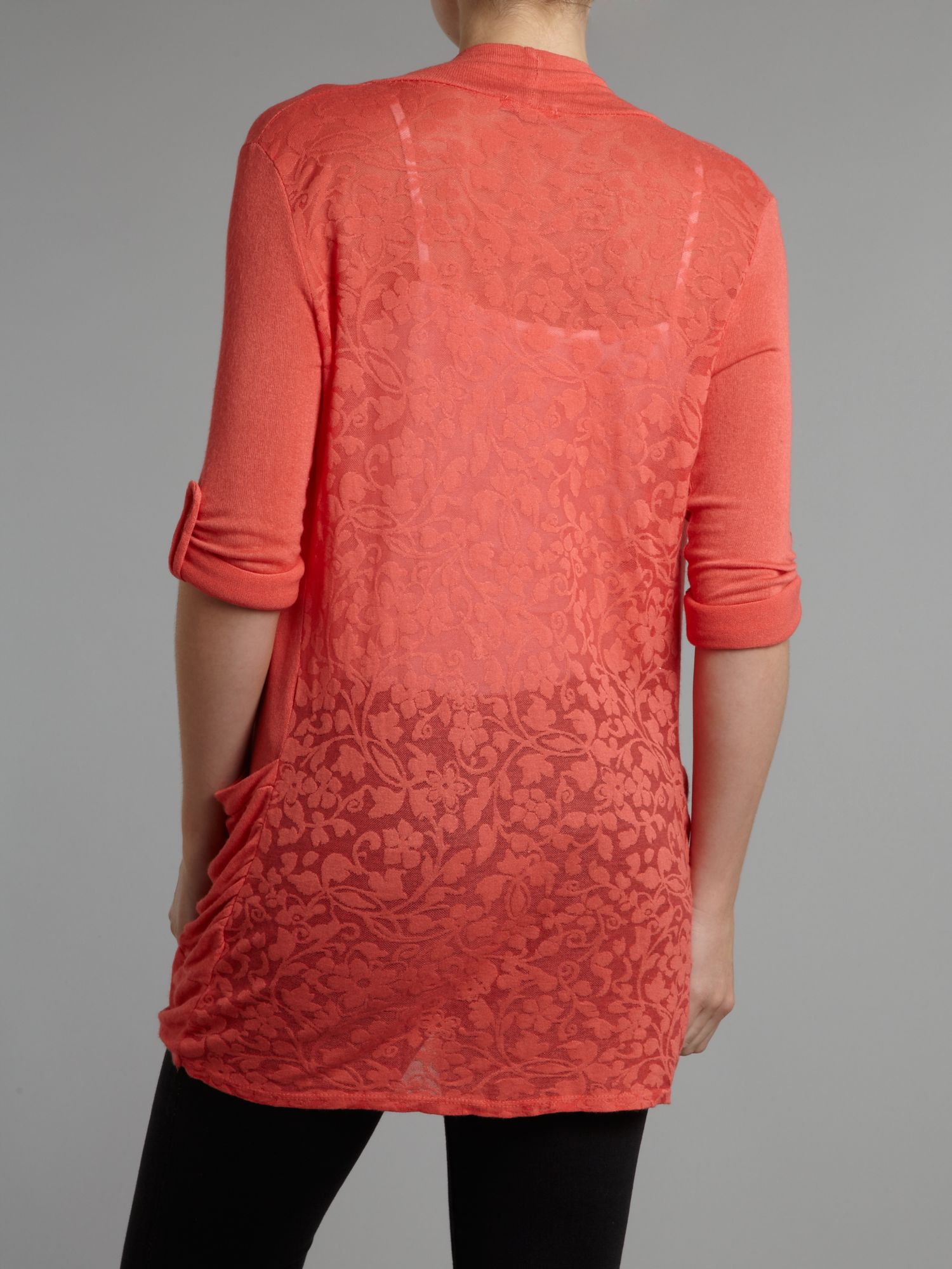 Wal-g Waterfall Lace Back Cardigan in Red   Lyst