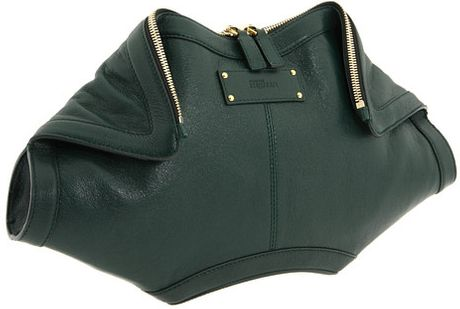 Alexander Mcqueen De Manta Clutch in Green (b) - Lyst