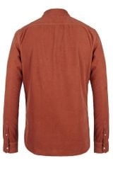 Allsaints Simmonds Shirt in Orange for Men (burnt umber) - Lyst