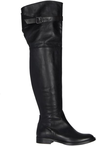 Allsaints Boyar Thigh Boot in Black (jet black) - Lyst