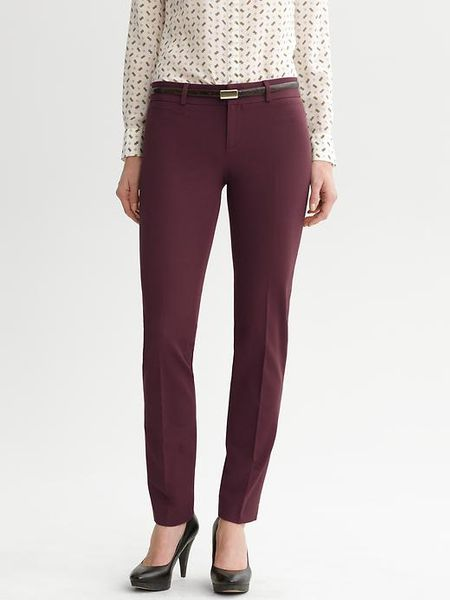 Banana Republic Sloan Fit Slim Ankle Pant in Red (winter burgundy ) - Lyst