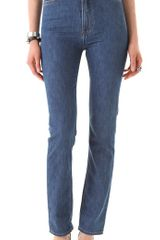 Blk Dnm High Waisted Straight Leg Jeans - Lyst