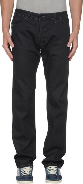 Diesel Denim Trousers in Black for Men - Lyst
