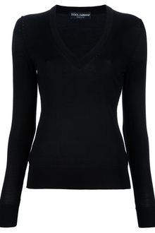 Dolce & Gabbana V-neck Sweater - Lyst