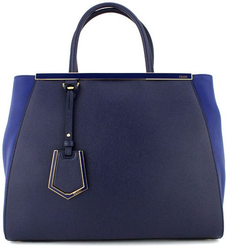 Fendi Navy and Blue Small Elite Tote in Blue (navy) - Lyst