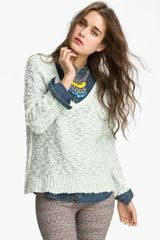 Free People Songbird Sheer Sweater - Lyst