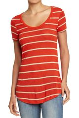Old Navy Long Jersey linen Tees - Lyst