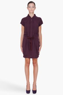 See By Chloé Dark Purple Drawstring Dress - Lyst