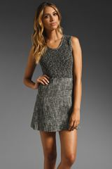 Theory Cozma Aglow Tweed Dress in Blackwhite - Lyst