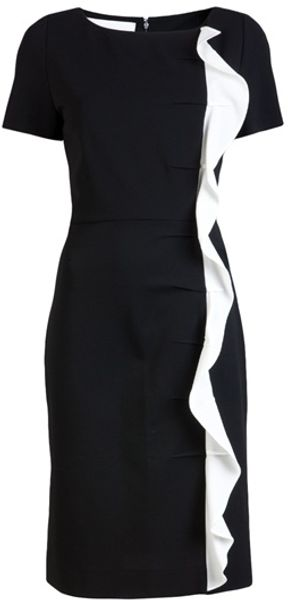 Valentino Compact Dress in Black - Lyst