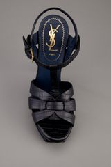 Yves Saint Laurent Tribute Sandal in Blue - Lyst