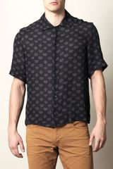 Acne Aragon Heart-print Shirt - Lyst