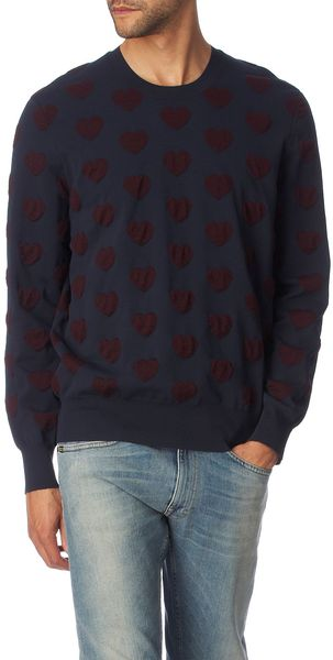 Acne Adam Heart Jumper - Lyst