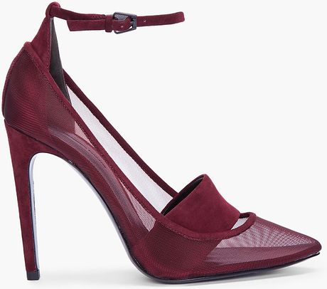 Alexander Wang Metallic Mesh Sabine Heels in Purple (burgundy) - Lyst