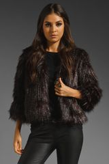 Anna Sui Long Haired Faux Fur Jacket - Lyst