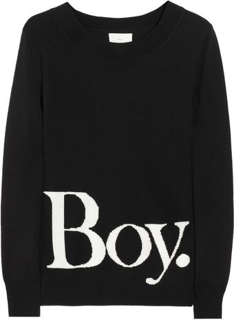 Boy by Band Of Outsiders Intarsia Wool Sweater - Lyst