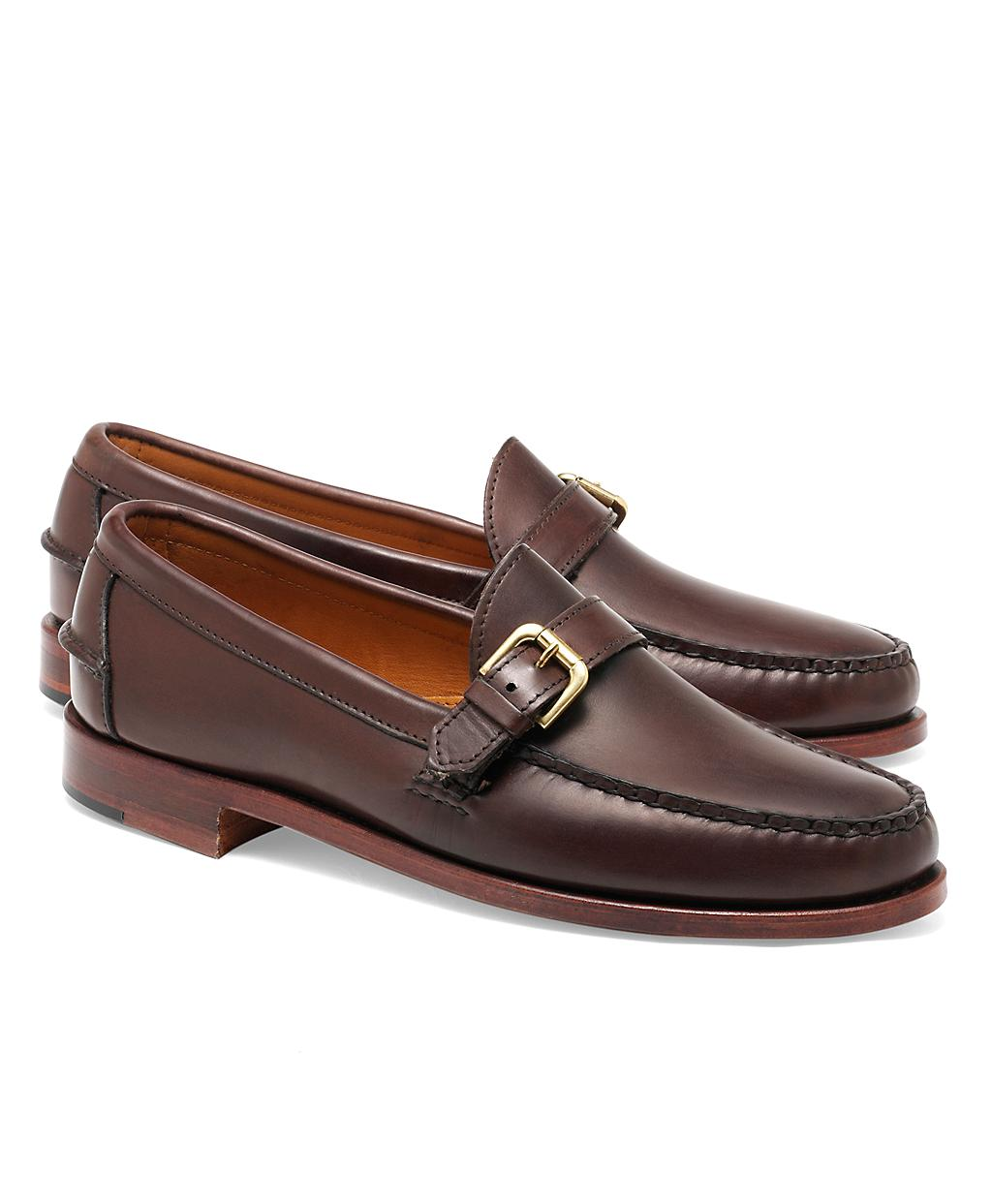Brooks Brothers Rancourt Amp Co Calfskin Buckle Loafers In
