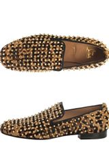 Christian Louboutin Rollerboy Leopard Pony Hair Loafers