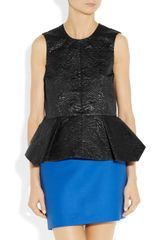Elizabeth And James Yumi Metallic Brocade Top in Black - Lyst