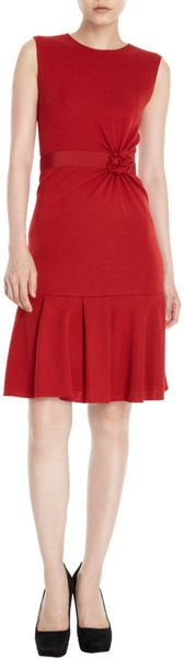 Giambattista Valli Rosette Dress in Red - Lyst