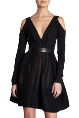 J. Mendel Cut Out Dress in Black (ivory) - Lyst
